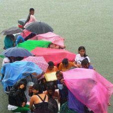 rainy school transport at Ak`Tenamit, Rio Lampara