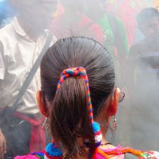Mayan ceremony at Ak`Tenamit