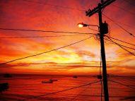 sunset in Livingston
