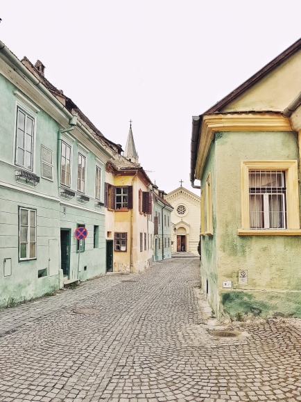typical street in Sighisoara
