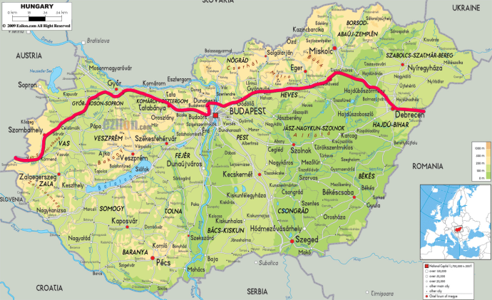 our route in Hungary
