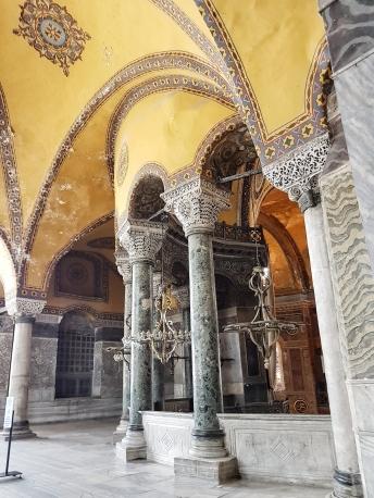 der erste Stock der Hagia Sophia