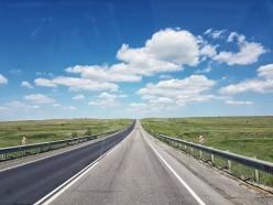 schwarz weisser Highway