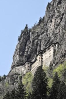 Sumela Kloster bei Macka. Leider war das Kloster geschlossen aufgrund von Bauarbeiten, die 2017 schon beendet hätten sein sollen!