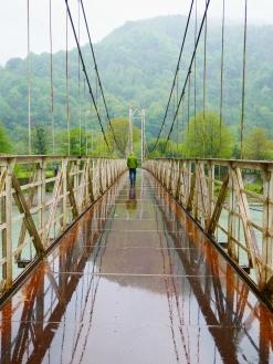 schicke Brücke, mit dem Auto waren wir zu schwer