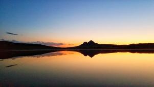 Sonnenuntergang am Kochebi See