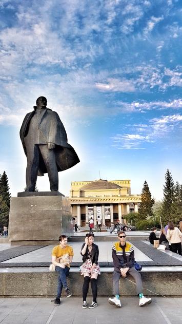 Leninstatue in Novosibirsk