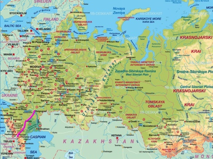 Route bis Volgograd