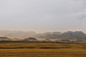 Bergkette in der Südgobi