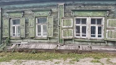 immer schade, dass die alten Holzhäuser so baufällig sind