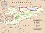 Route von Song Köl nach Osh in Grün