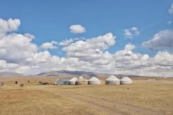 Jurtencamp auf 3000m Höhe