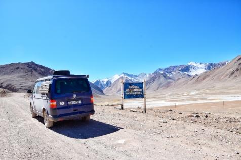 Ak-Baital Pass mit 4655m und sehr dünner Luft