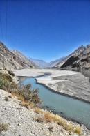 Grenzfluss zwischen Tadschikistan und Afghanistan