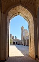Kalon Moschee, die ganzen Touristengruppen ausgeblendet
