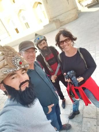 Selfie mit usbekischen Touristen