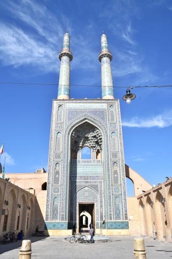 Freitagsmoschee in Yazd. Ich liebe die Lampe