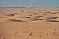 Einmal eine andere Dünenformation in der Kavir Wüste