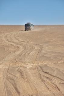 ein bisschen im Sand fahren mit Ohne-Stecken-Bleiben