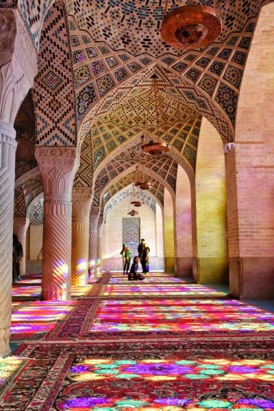 Nasir al Molk Moschee oder pinke Moschee. Die Iraner nennen sie Chinesen Moschee