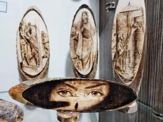 Holzbrennen, schicke Handwerkskunst