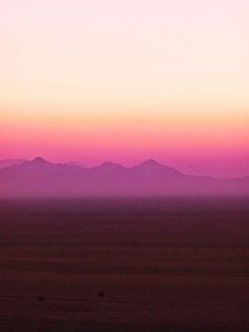 Sonnenuntergang in den Dünen von Varzaneh