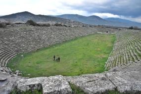 und hier in Aphrodisias haben die ganzen grauslichen Gladiatorenkämpfe stattgefunden