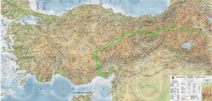 Route Anatolien in Grün