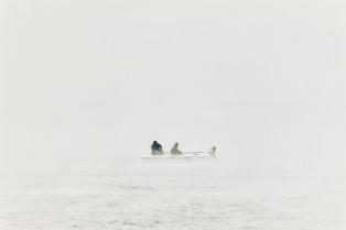 eisiger Wind, fast Null Grad, die Fischer fahren trotzdem raus
