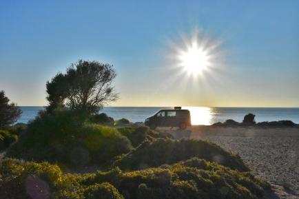 perfekter Stellplatz am Klifftop Marmaritsa