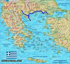 Route in Griechenland