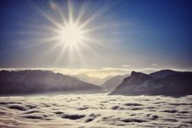 immerhin sind wir über der Nebeldecke